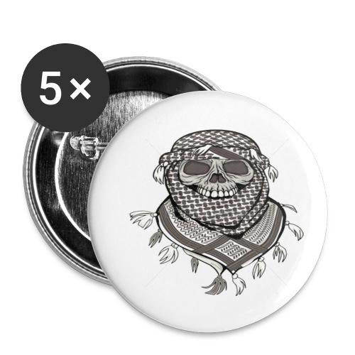 Krieger - Buttons klein 25 mm (5er Pack)