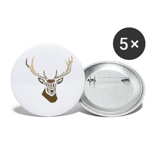 cerf-spread - Lot de 5 petits badges (25 mm)