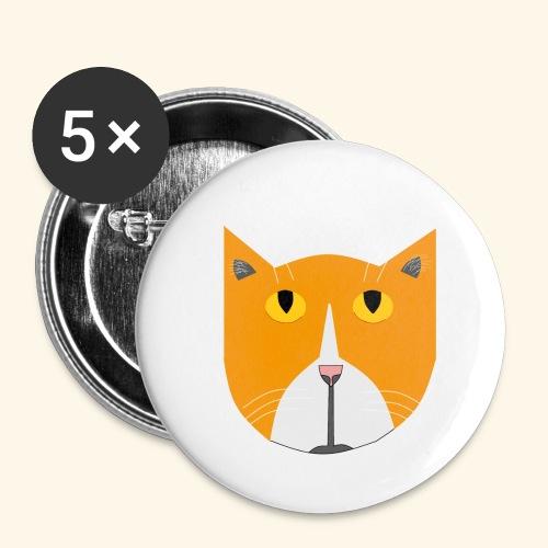 Hieno kissa - Rintamerkit pienet 25 mm (5kpl pakkauksessa)