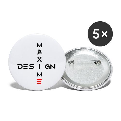 Composition47 - Lot de 5 petits badges (25 mm)