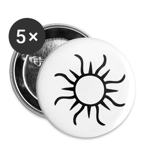 Sonne - Buttons klein 25 mm (5er Pack)