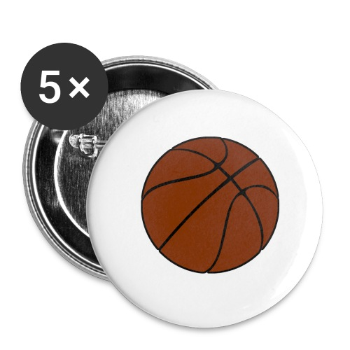 Basketball - Buttons klein 25 mm (5er Pack)