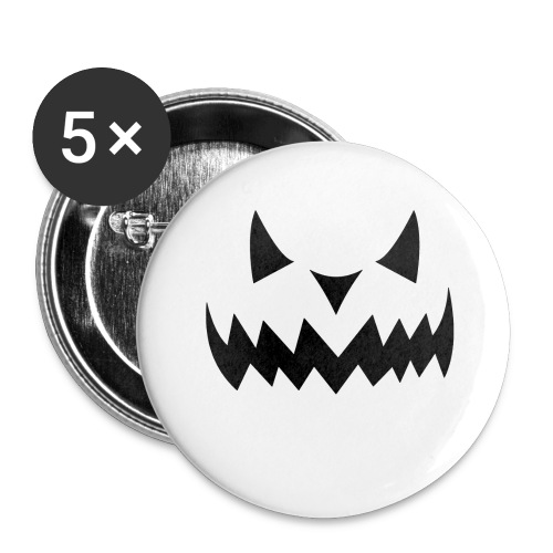 Halloween Face - Buttons klein 25 mm (5er Pack)