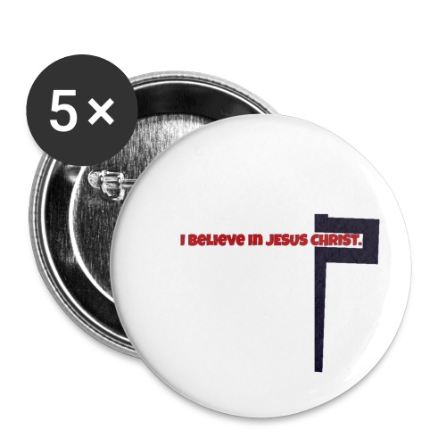 I believe in Jesus!!! - Buttons klein 25 mm (5er Pack)