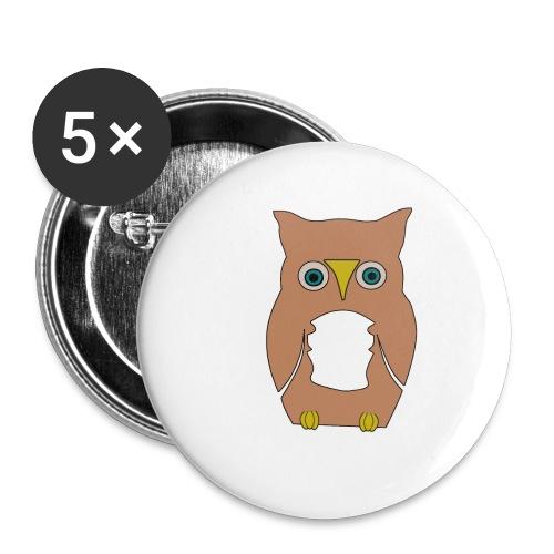 Derpi Owl - Buttons klein 25 mm (5er Pack)
