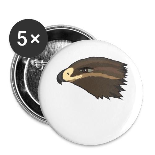 Happy Hawk - Buttons klein 25 mm (5er Pack)