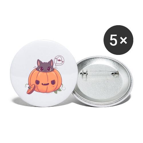 Halloween cat - Buttons small 1''/25 mm (5-pack)