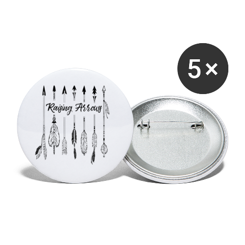Raising Arrows - Buttons klein 25 mm (5er Pack)