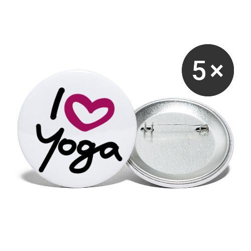 I love Yoga. - Buttons klein 25 mm (5er Pack)