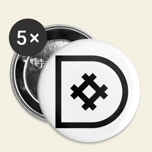 Icona de #ildazioètratto - Confezione da 5 spille piccole (25 mm)