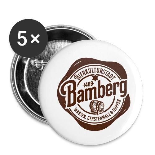 Bierkulturstadt Bamberg - Buttons klein 25 mm (5er Pack)