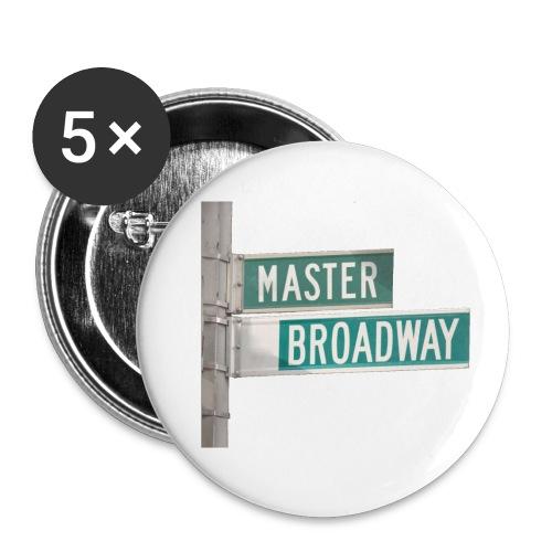 MBStreetSign - Lot de 5 petits badges (25 mm)