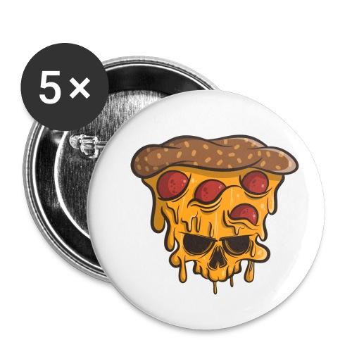 Zombie Halloween Pizza Skull - Buttons klein 25 mm (5er Pack)