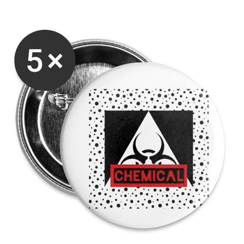 CHEMICAL - Confezione da 5 spille piccole (25 mm)
