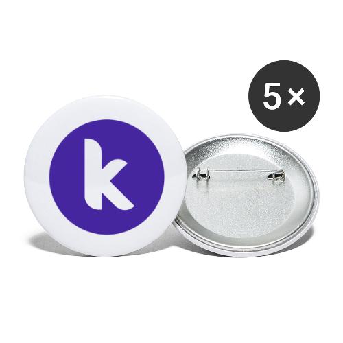 Classic Rounded - Buttons small 1''/25 mm (5-pack)