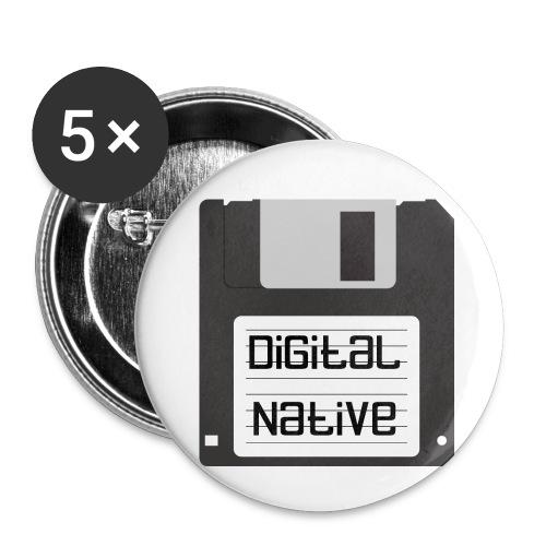 Digital Native - Buttons klein 25 mm (5er Pack)