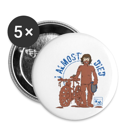 I almost died - Buttons small 1''/25 mm (5-pack)