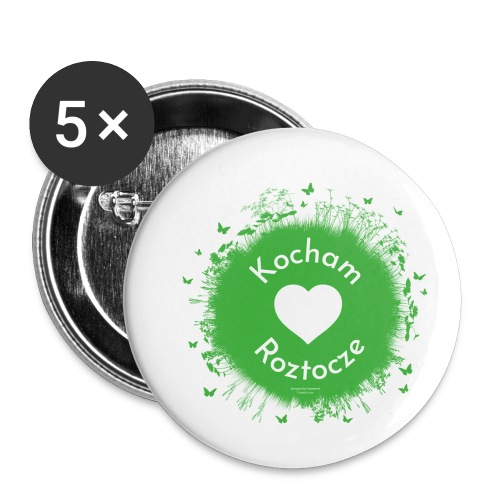 Kocham Roztocze - Przypinka mała 25 mm (pakiet 5 szt.)