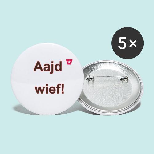 Aajd wief def b verti - Buttons klein 25 mm (5-pack)