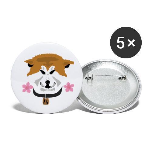 Akita - Confezione da 5 spille piccole (25 mm)
