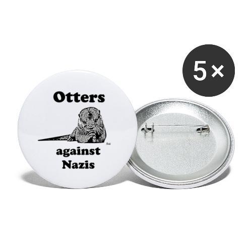 ottersagainstnazis - Buttons klein 25 mm (5er Pack)
