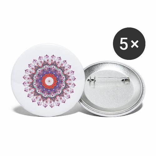 Orange mandala - Buttons/Badges lille, 25 mm (5-pack)