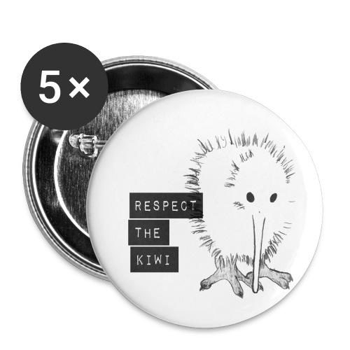 Respect the Kiwi - Buttons klein 25 mm (5er Pack)