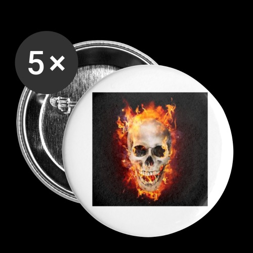 skullflame - Buttons small 1''/25 mm (5-pack)