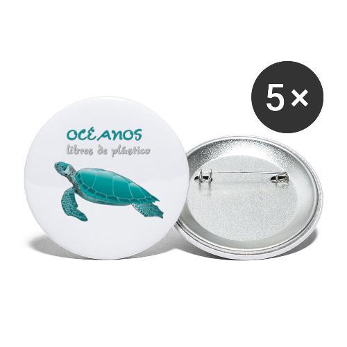 Océanos libres de plástico - Paquete de 5 chapas pequeñas (25 mm)