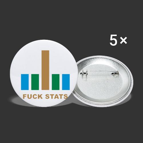 F*CK Stats - Lot de 5 petits badges (25 mm)