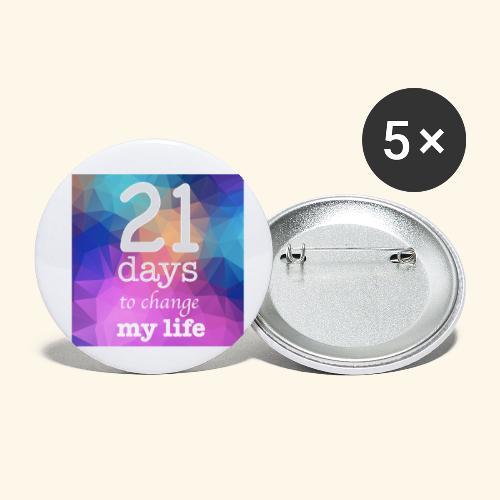 21 days to change my life - Confezione da 5 spille piccole (25 mm)