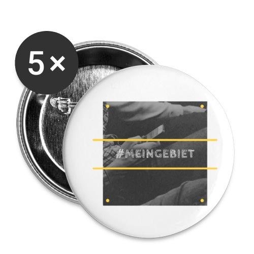 MeinGebiet - Buttons klein 25 mm (5er Pack)