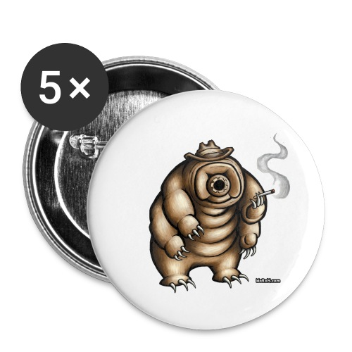 Smokey the Water Bear - Buttons small 1''/25 mm (5-pack)