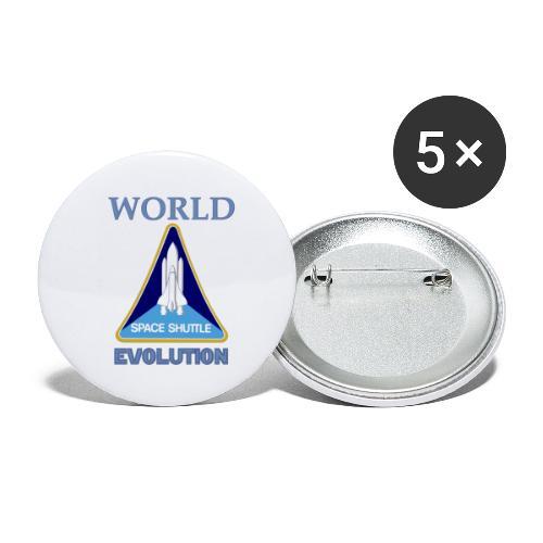 World evolution. - Paquete de 5 chapas pequeñas (25 mm)