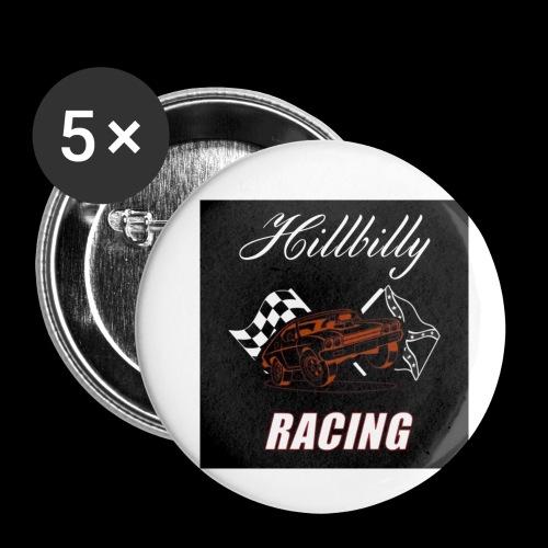 Hillbilly racing merchandise - Buttons klein 25 mm (5-pack)