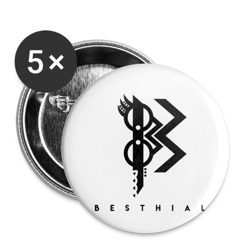 Viking Dark - Lot de 5 petits badges (25 mm)
