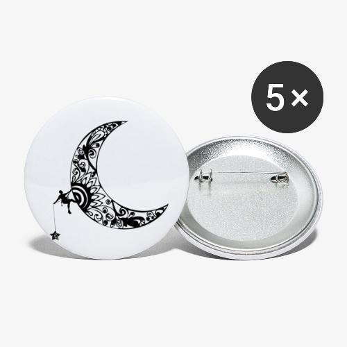 Luna - climb to the stars - Buttons small 1''/25 mm (5-pack)