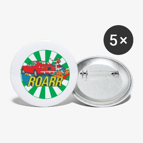 128 coupe roarr - Confezione da 5 spille piccole (25 mm)