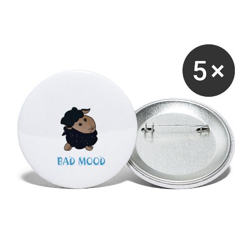 Badmood - Gaspard le petit mouton noir - Lot de 5 petits badges (25 mm)