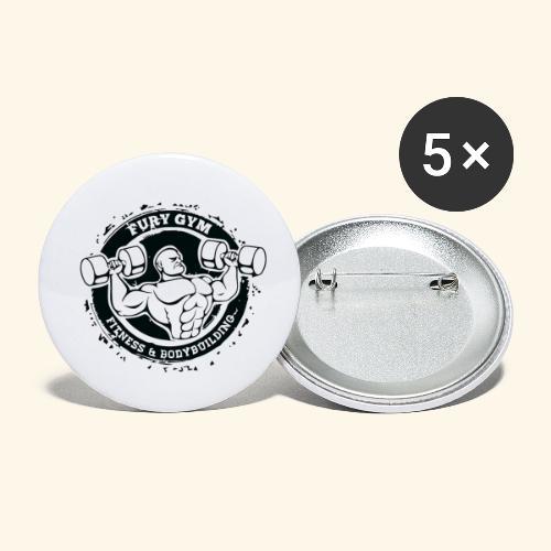 logo de musculation - Lot de 5 petits badges (25 mm)