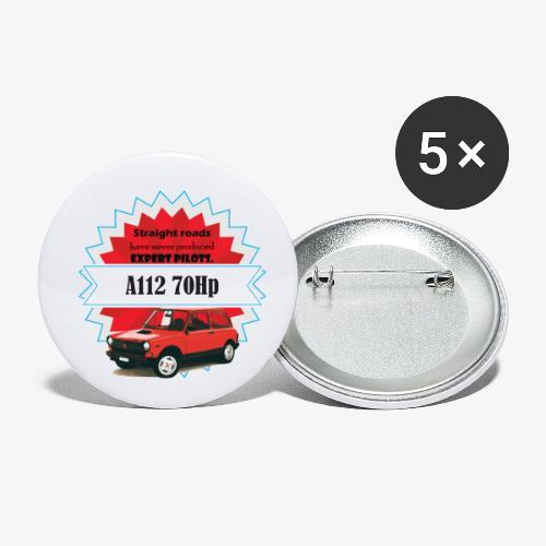 A112 - straight roads - Confezione da 5 spille piccole (25 mm)