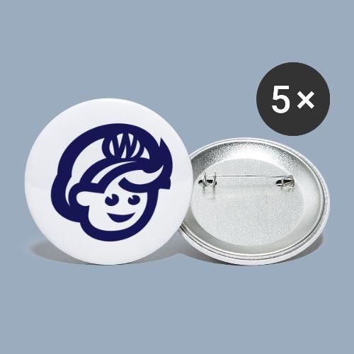 logo bb spreadshirt bb kopfonly - Buttons klein 25 mm (5er Pack)