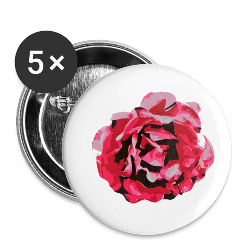 rose - Buttons klein 25 mm (5er Pack)