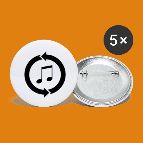 music, renew music, music, t-shirt music - Buttons small 1''/25 mm (5-pack)