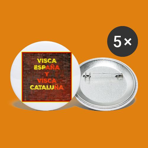 SPAIN AND CATALONIA - Buttons small 1''/25 mm (5-pack)