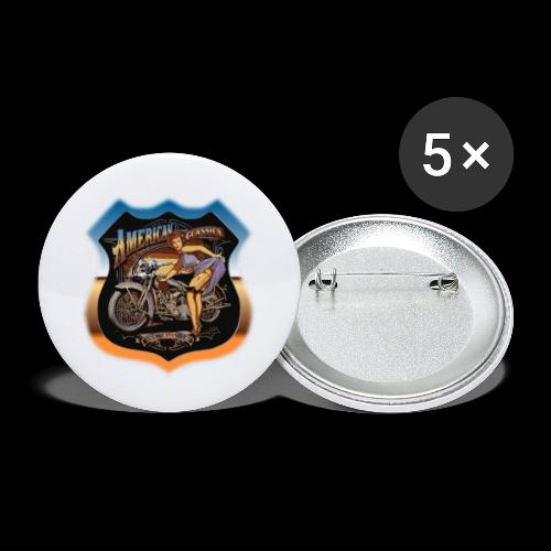 AMERICAN CLASSIC - Buttons klein 25 mm (5er Pack)