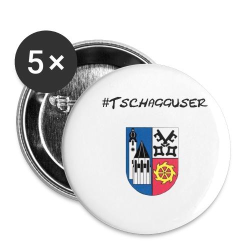 Tschaggunser - Buttons klein 25 mm (5er Pack)