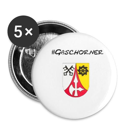 Gaschorner - Buttons klein 25 mm (5er Pack)