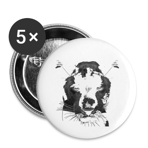 Pantere - Lot de 5 petits badges (25 mm)