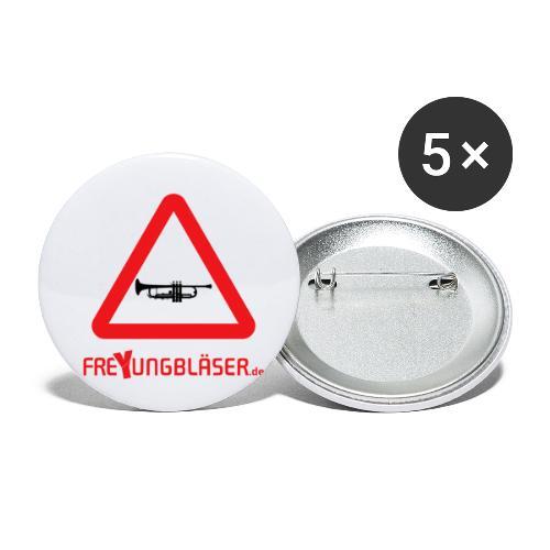 Freyungbläser Design 1 (rot) - Buttons klein 25 mm (5er Pack)